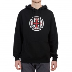 Independent Ringed Cross Hoodie - Black