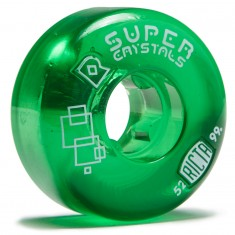 Ricta Super Crystals Skateboard Wheels - Green - 52mm 99a