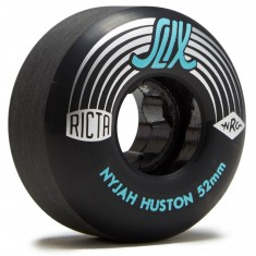 Ricta Nyjah Huston Slix Skateboard Wheels - Black - 52mm 99a