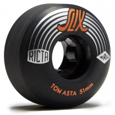 Ricta Asta Slix Skateboard Wheels - Black - 51mm 99a