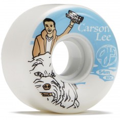 OJ Carson Lee Keyframe White 87a Skateboard Wheels - 54mm