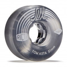 Ricta Tom Asta Crystal Slix Clear Black 99a Skateboard Wheels - 51mm