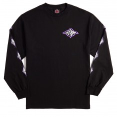 Independent Evan Smith Warped Cross Long Sleeve T-Shirt - Black