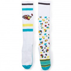 Stinky Socks X Blind Nick Dirks/Erik Leon Snowboard Socks - Lips/Tulips