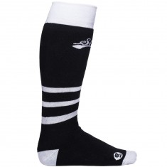 Stinky Socks Black And White Snowboard Socks - Black/White