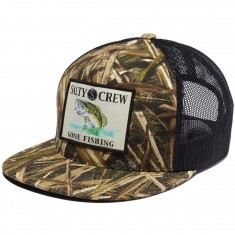Salty Crew Big Mouth Trucker Hat - Grass Blades