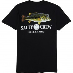 Salty Crew Green Bass T-Shirt - Black