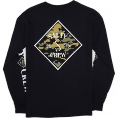Salty Crew Tippet Camo Long Sleeve T-Shirt - Black