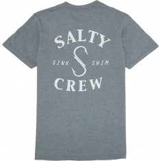 Salty Crew Heathered S Hook T-Shirt - Graphite Heather