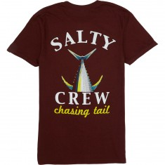 Salty Crew Chaising Tail Heather T-Shirt - Peppered Burgundy