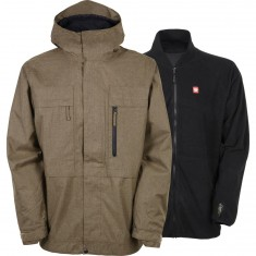 686 Authentic Smarty Form Snowboard Jacket - Khaki Melange