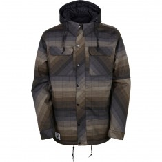 686 Authentic Woodland Insulated Snowboard Jacket - Olive Yarn-Dye Stripe