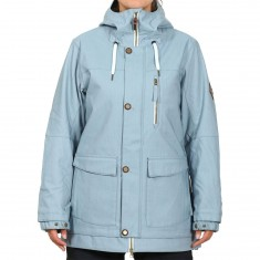 686 Pheonix Insulated Snowboard Jacket - Light Blue Denim