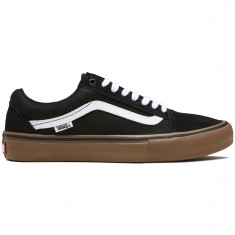 Vans Old Skool Pro Shoes - Black/Gum/White