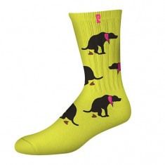 Psockadelic Keeper Socks - Neon Yellow