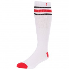 Psockadelic High Times Socks - White/Red/Black
