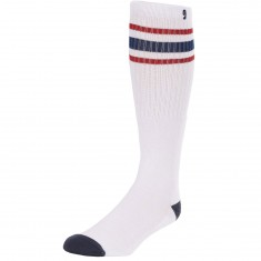 Psockadelic High Times Socks - White/Navy/Red