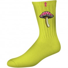 Psockadelic Fungi 2 Socks - Neon Yellow
