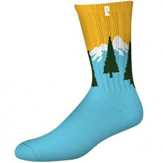 Psockadelic PCT *smells Like Pine Socks - Blue/Yellow
