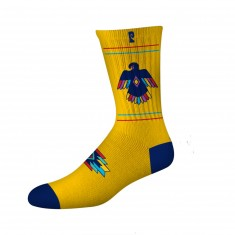 Psockadelic Thurderbird Socks - Yellow/Navy