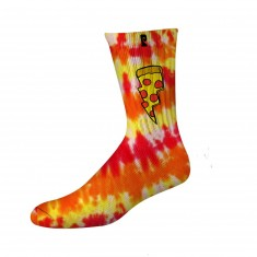 Psockadelic Doughnut Socks - Red/Yellow Tie Dye