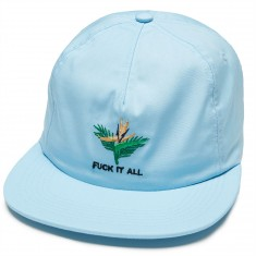 Good Worth Fuck It All Snapback Hat - Light Blue