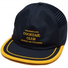 Good Worth Underpaid Snapback Hat - Navy/Gold