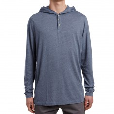 SOVRN Stor Hooded Henley Shirt - Dusk
