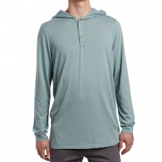 SOVRN Stor Hooded Henley Shirt - Leaf