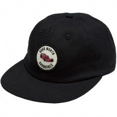 Good Worth Grand Prix 6 Panel Strapback Hat - Black