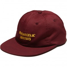 Good Worth Psychedelic Dreams 6 Panel Hat - Burgundy