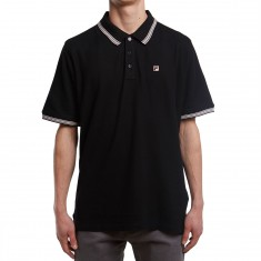 FILA Matcha 3 Polo Shirt - Black