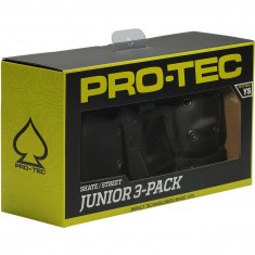 Protec Street Gear Jr 3 Pack Pads - Black