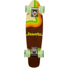 Sunset Fotostar Skateboard Complete - with Green Wheels