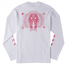 Sweet 90's Loose Psychedelic Longsleeve T-Shirt - White