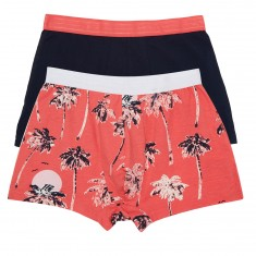 WeSC Stan Hawaii 2-Pack Underwear - Sunkist Coral