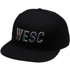 WeSC Inlay Snapback Hat - Black