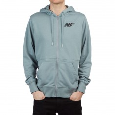 New Balance Fleece Zip Up Hoodie - Slate
