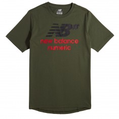 New Balance Logo Stacked T-Shirt - Dark Green