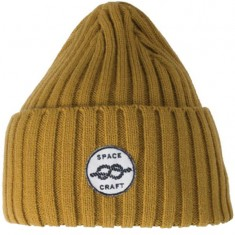 Spacecraft Square Knot Beanie - Mustard