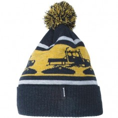Spacecraft Snowcat Pom Beanie - Black Heathered