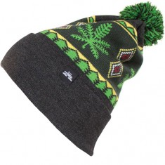 Spacecraft Chron Pom Beanie - Rasta Heathered