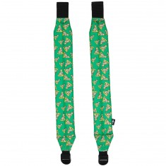 Acembly Backpack Straps - Green Pizza