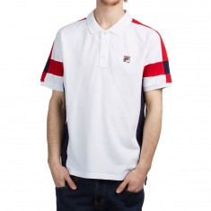 FILA Prago Polo Shirt - White/Peacoat/Chinese Red