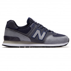 New Balance 574 Engineered Mesh Shoes - Gunmetal/Pigment