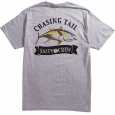 Salty Crew Sickle Fin T-Shirt - Athletic Heather