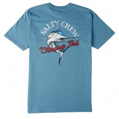 Salty Crew Striped Marlin T-Shirt - Slate