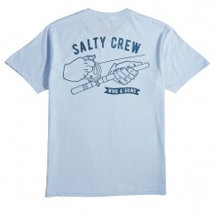 Salty Crew Wind N Grind T-Shirt - Light Blue