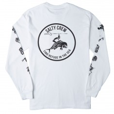 Salty Crew Mahi Cowboy Pocket Long Sleeve T-Shirt - White