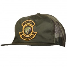 Salty Crew Bass Bunker Trucker Hat - Dark Olive
